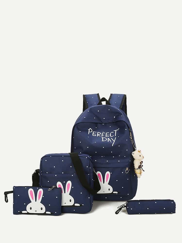 Купить Дети несут рюкзак с пеналом 4шт., null, SheIn