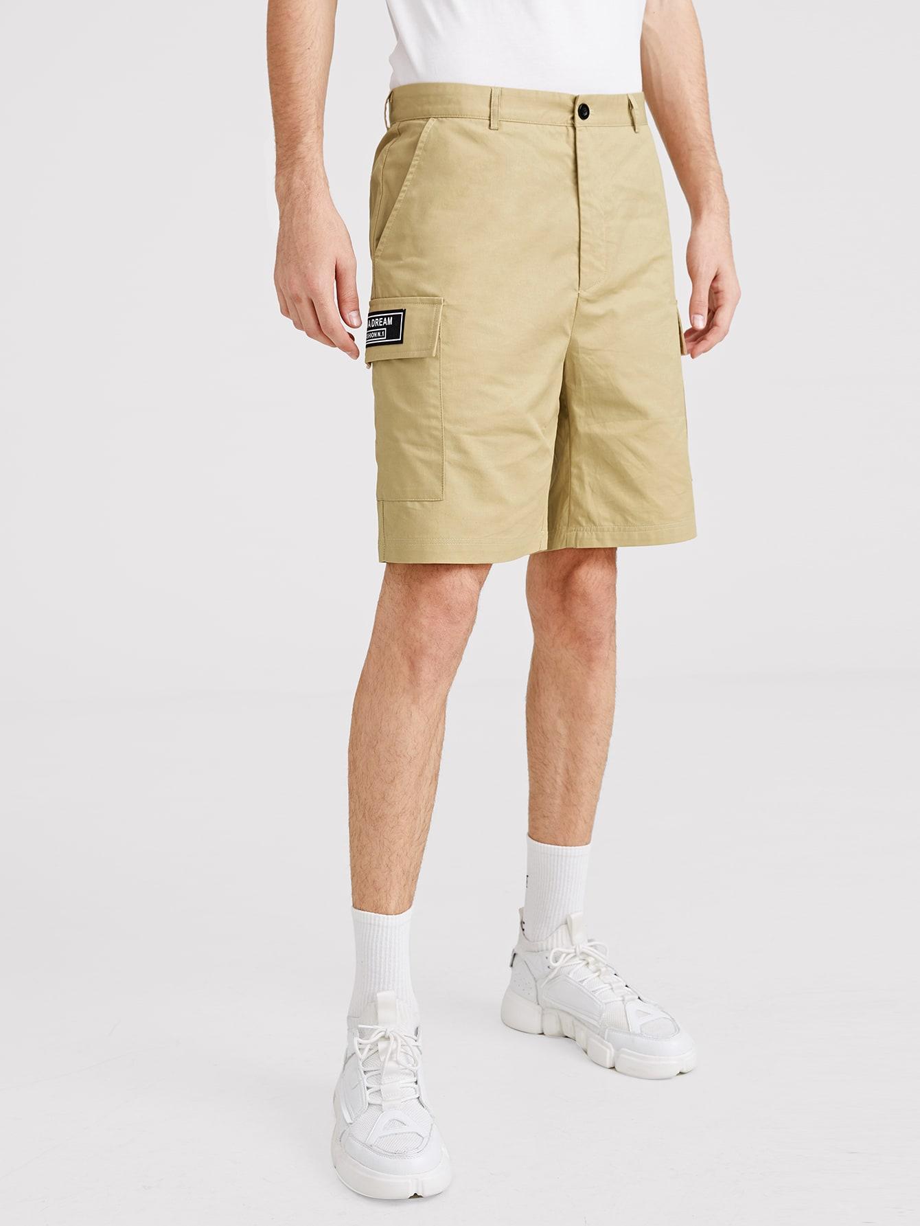 Купить Мужские шорты с крышками и кармана, Valerian, SheIn