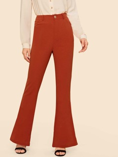 80s Neon Orange Boot-cut Leg Pants