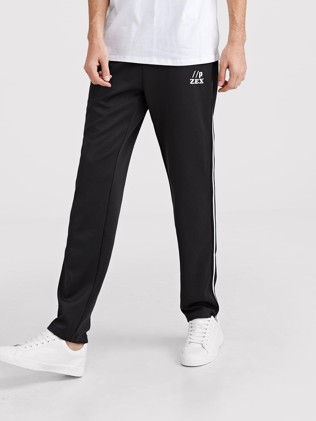 Купить Мужские контрастные спортивные брюки с полосками, Valerian, SheIn