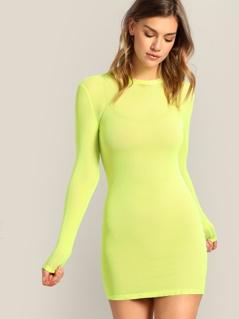Neon Yellow Form Fitting Dress