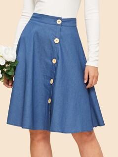 Button Up Circle Skirt