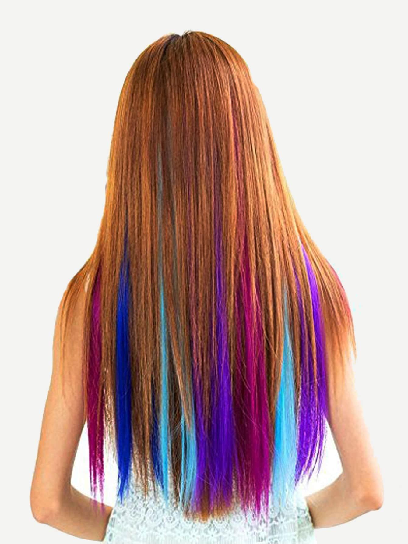 Купить 12 цветных зажимов для наращивания волос, null, SheIn