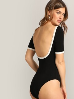 Backless Ringer Bodysuit