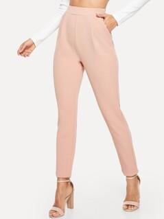 Pocket Side Solid Textured Pants