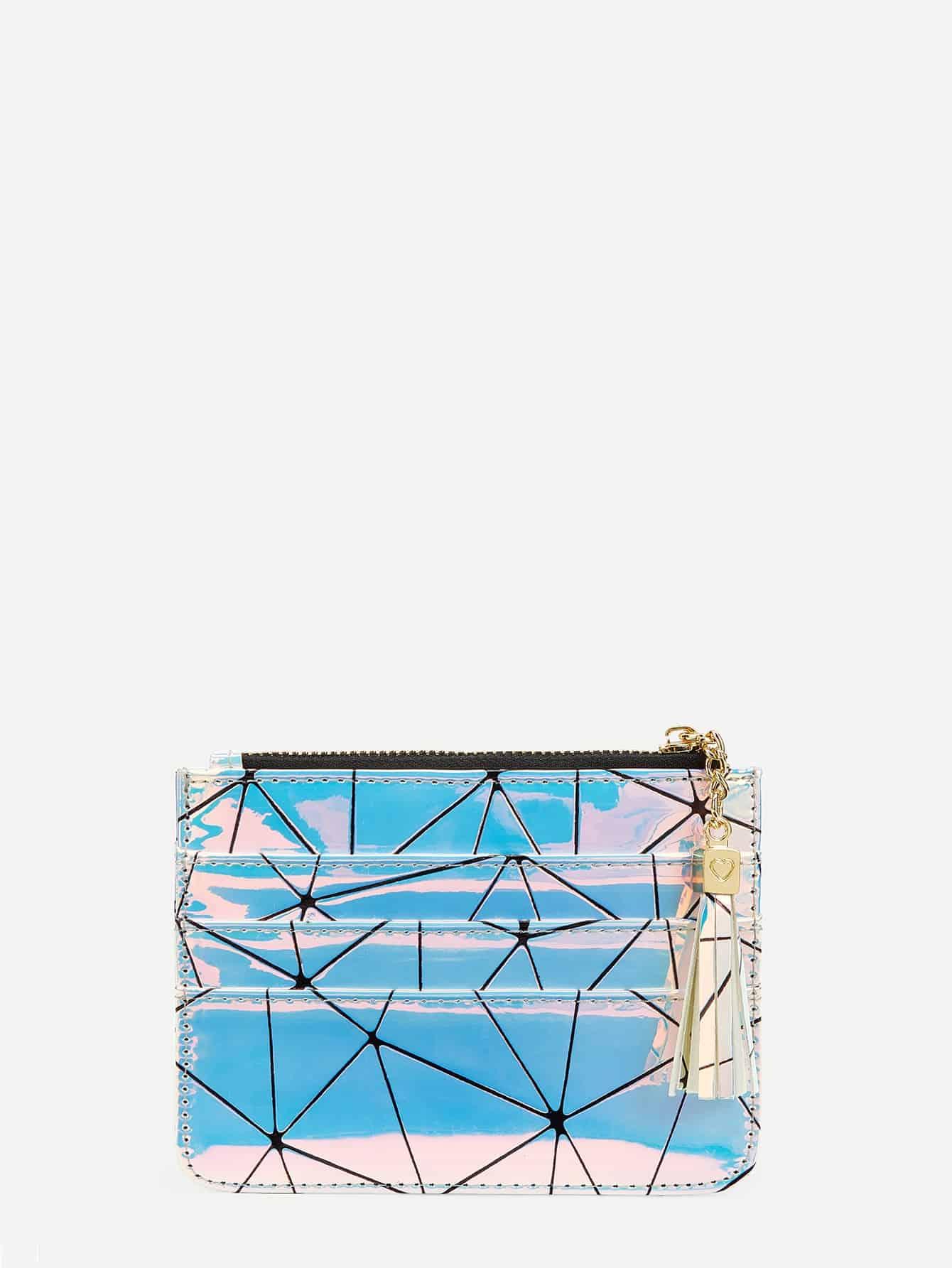 Купить Радужный кошелек с геометрическим принтом, null, SheIn