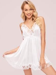 Satin | Dress | Lace