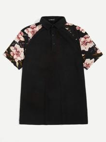 Flower | Sleeve | Shirt | Polo | Men
