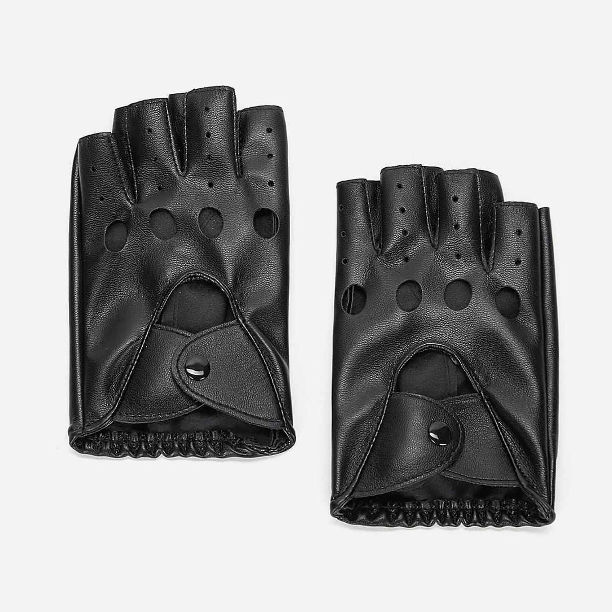 Ажурные перчатки без пальцев для мужчины от SHEIN