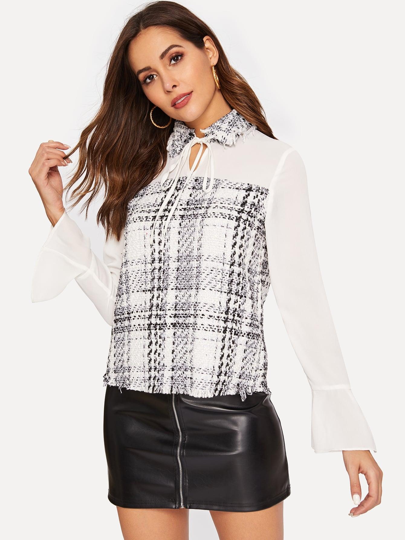 50s Plaid Print Skirt null