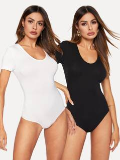 Skinny Tee Bodysuit 2PCS Set