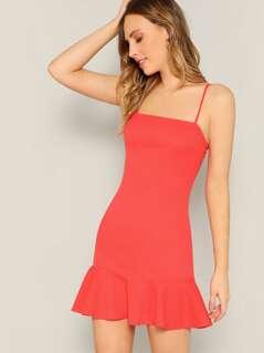 Flippy Hem Cami Dress