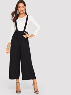 Wide Leg Pants With Knot Strap