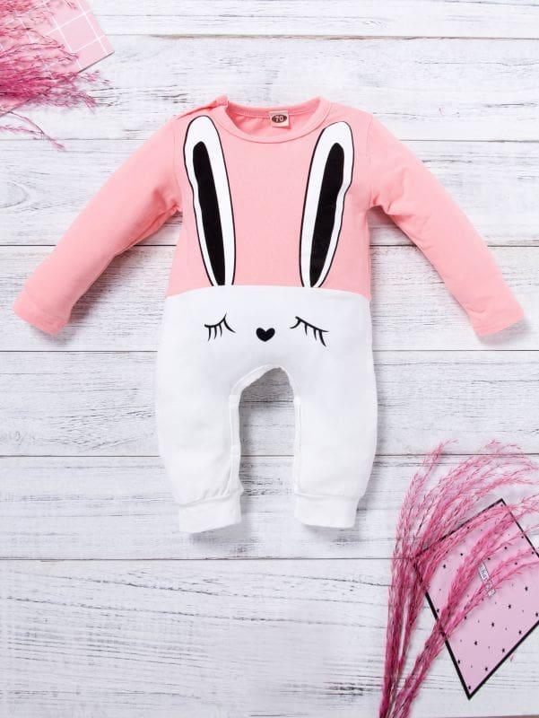 Купить Комбинезон с принтом кролика для маленьких девочек, null, SheIn
