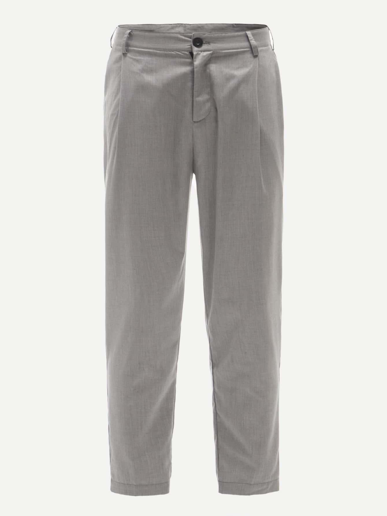 Купить Мужские брюки с косами карманами, null, SheIn