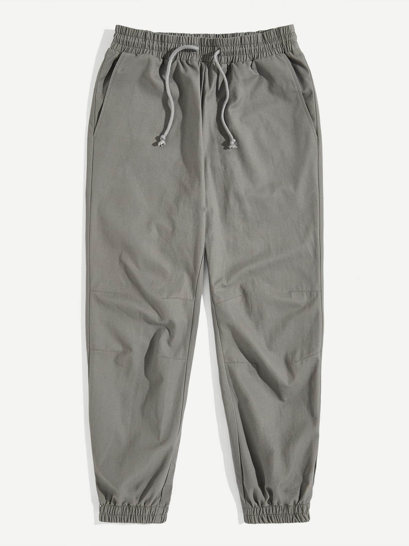 Купить Мужские брюки с карманом и упругой отделкой и кулиской, null, SheIn