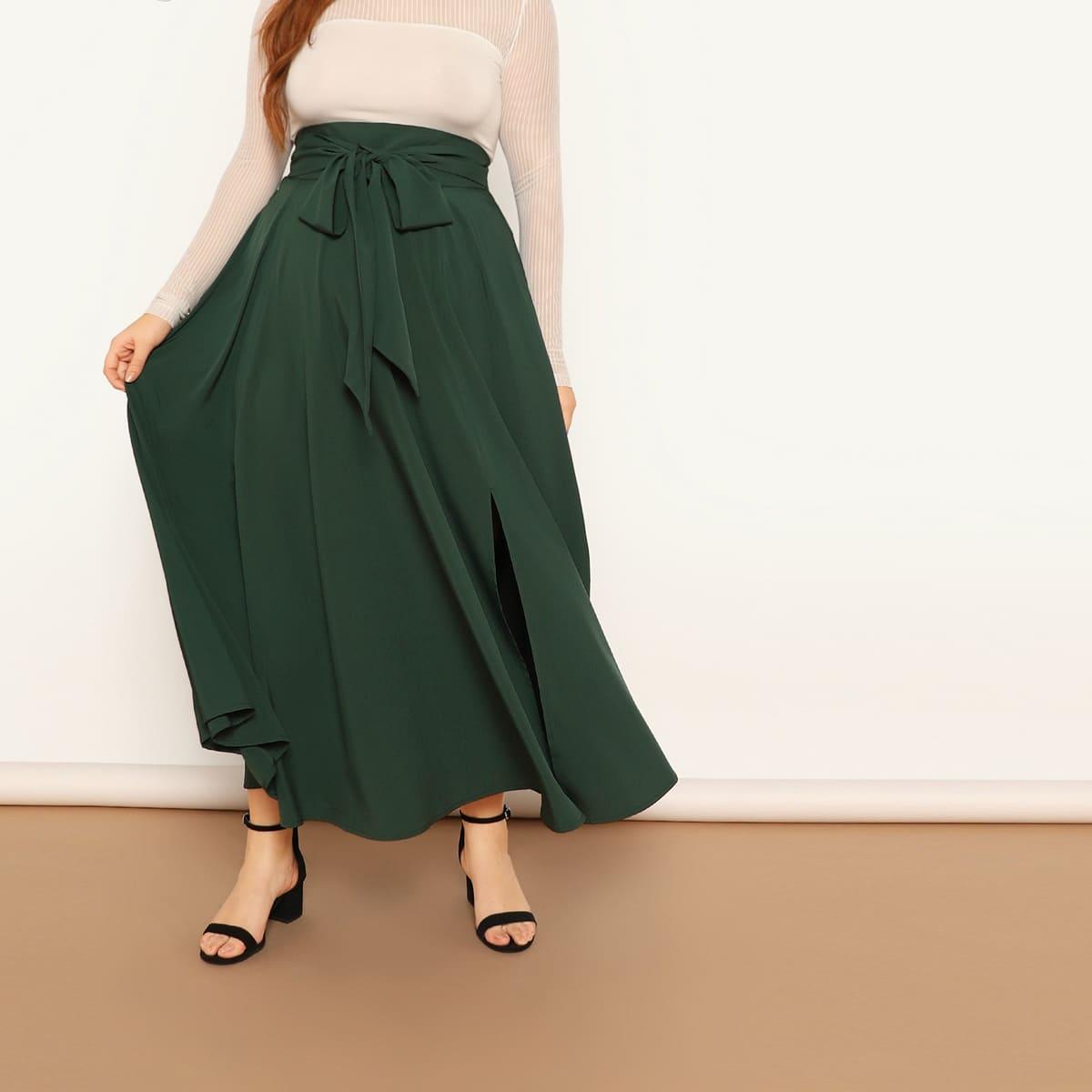 Размера плюс юбка на молнии сзади