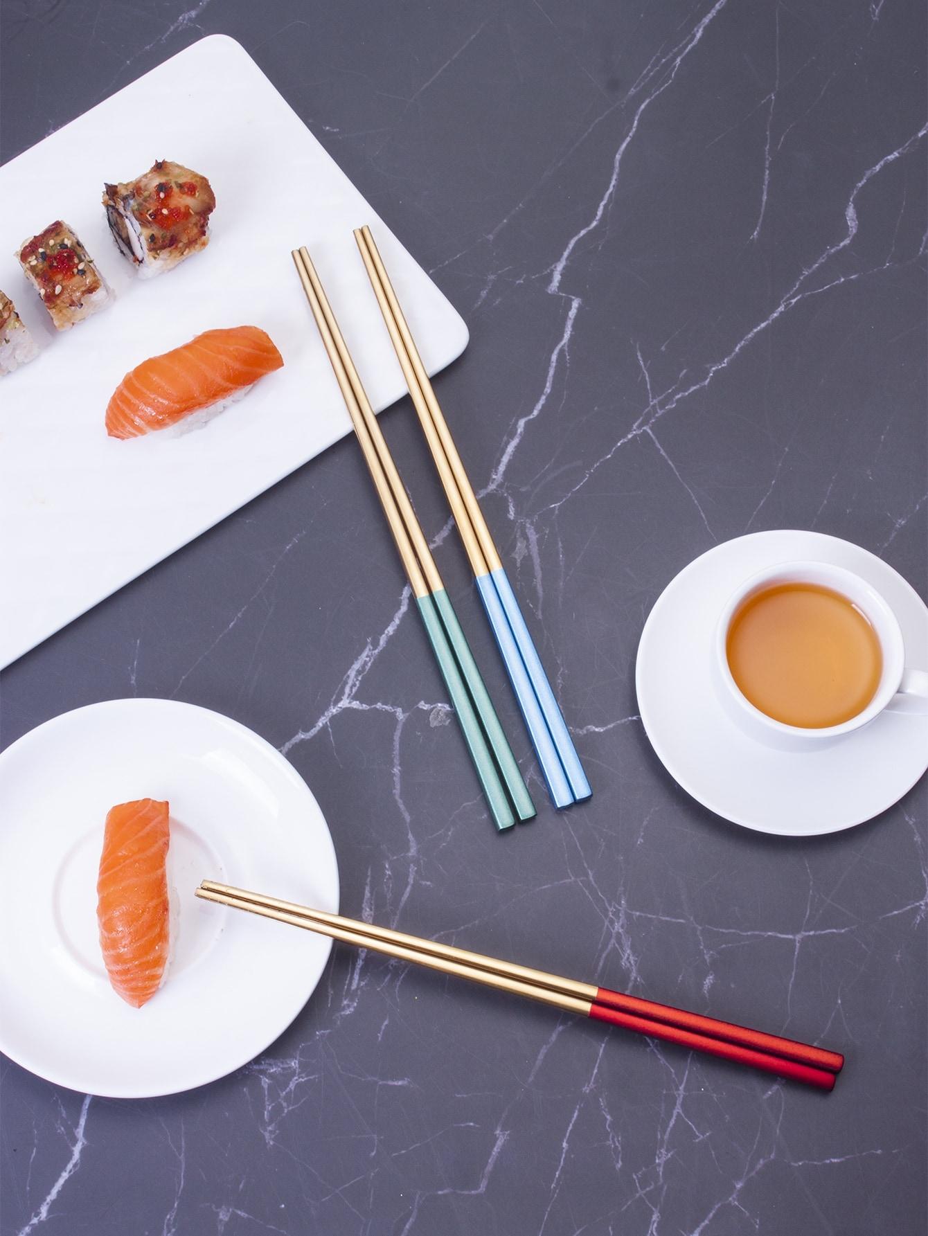 Двухцветная палочка для еды 1 пара