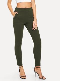Slant Pocket Skinny Pants