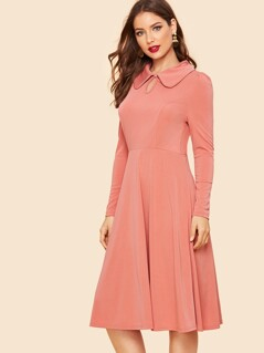 Keyhole Front Fit & Flare Dress