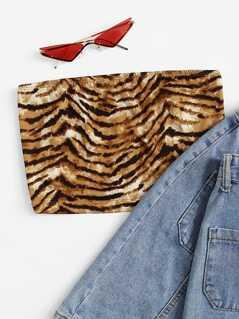 Tiger Print Bandeau Top