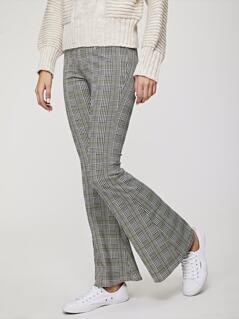 Plaid Flare Pants