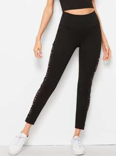 Laser Cut Side Seam Leggings