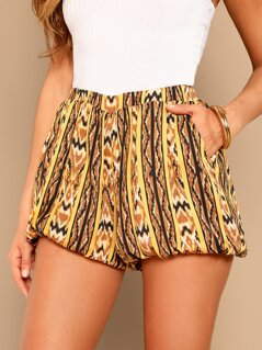 Tribal Print Balloon Shorts