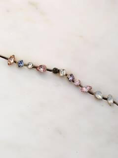 Fifteen Pairs Of Colored Crystal Stud Earrings