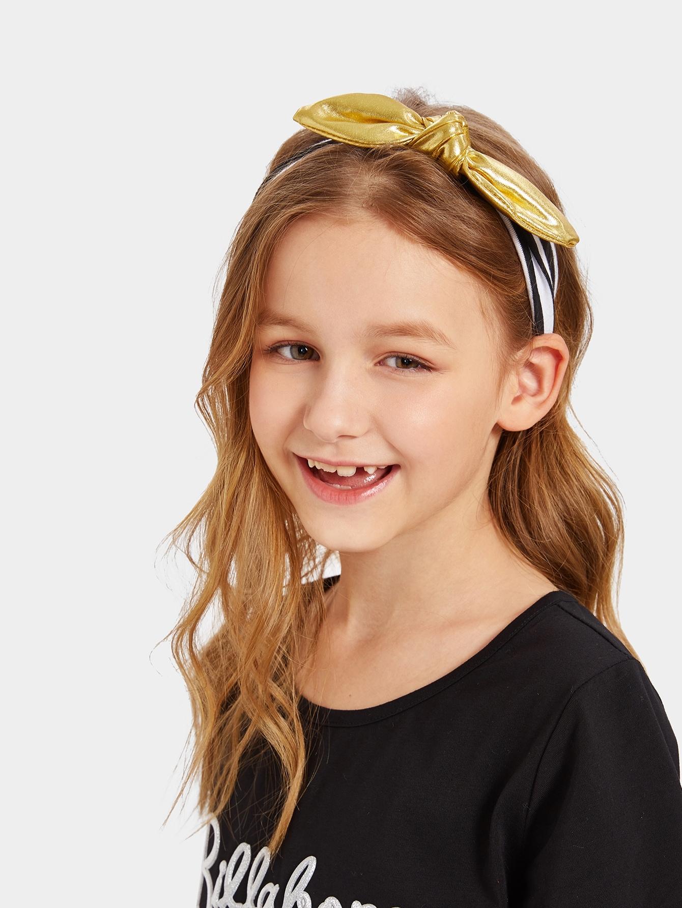 Купить Девушки галстук-бабочку волосы оголовье 1шт, null, SheIn