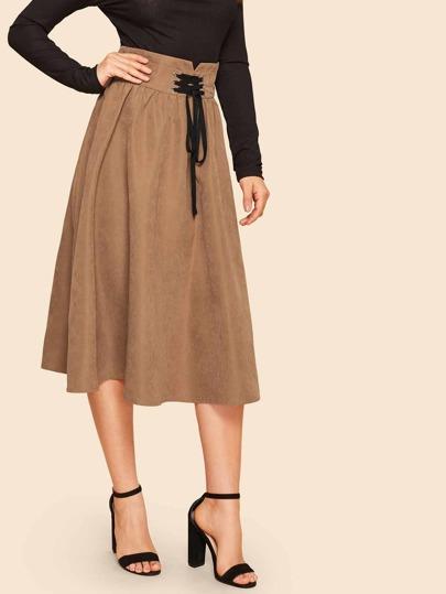 SheIn / Corset Detail Jersey Skirt
