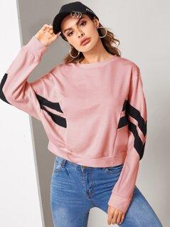 Cut-and-sew Dolman Sleeve Sweatshirt