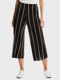 Elastic Waist Stripe Pants