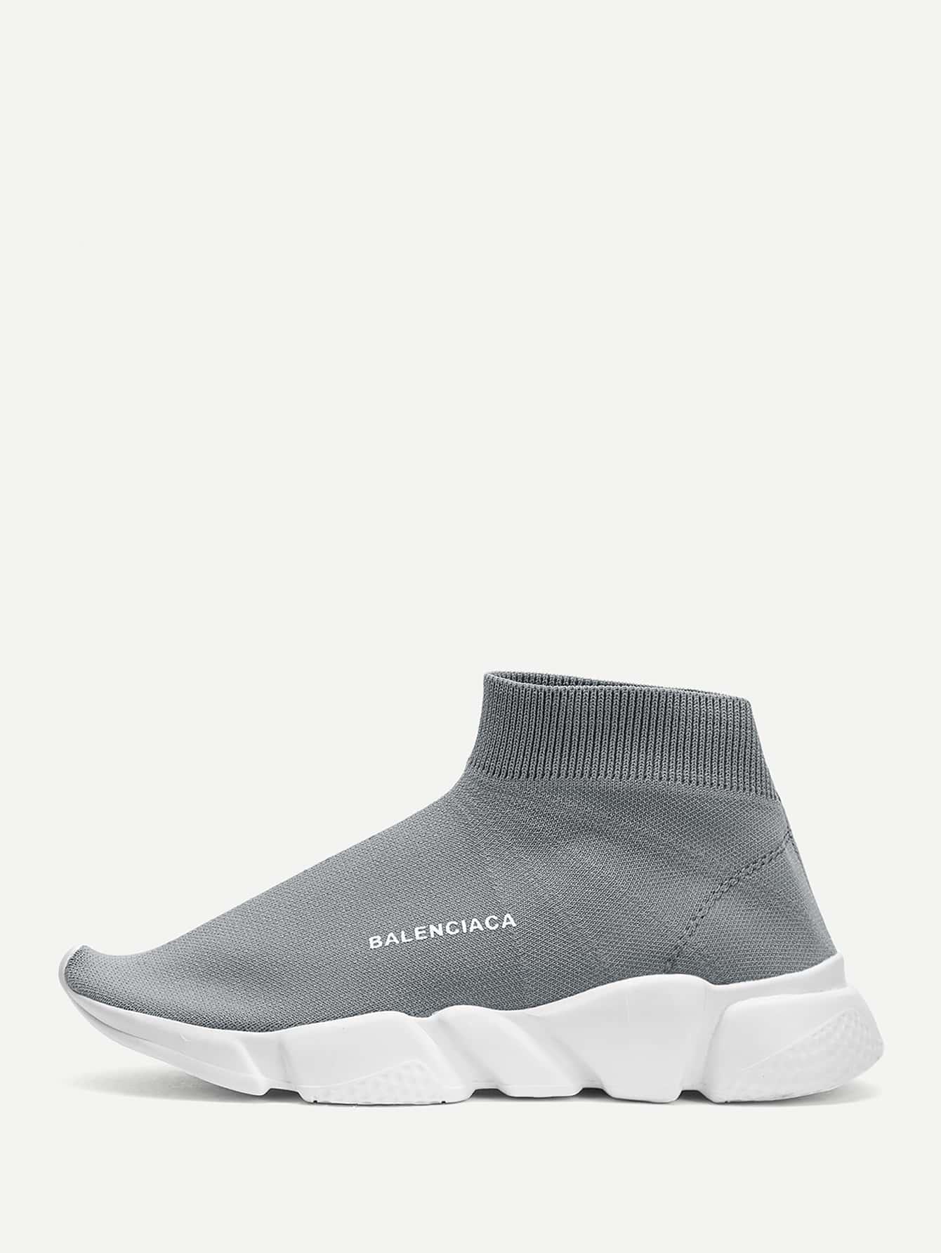 Купить Мужские вязаные кроссовки-носки, null, SheIn