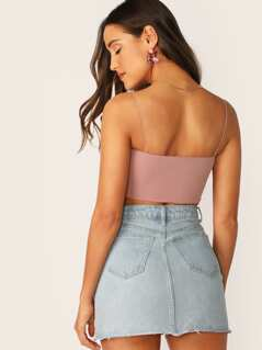Cami Strap Jersey Stretch Knit Crop Tube Top