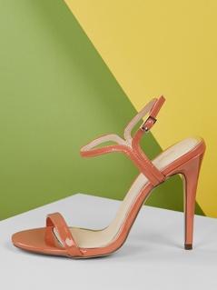 Thin Band Ankle Strap Stiletto Heel Sandals