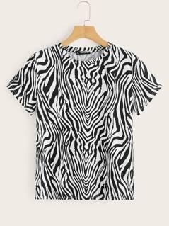 Zebra Print Tee