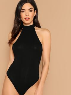 Halter Backless Bodysuit