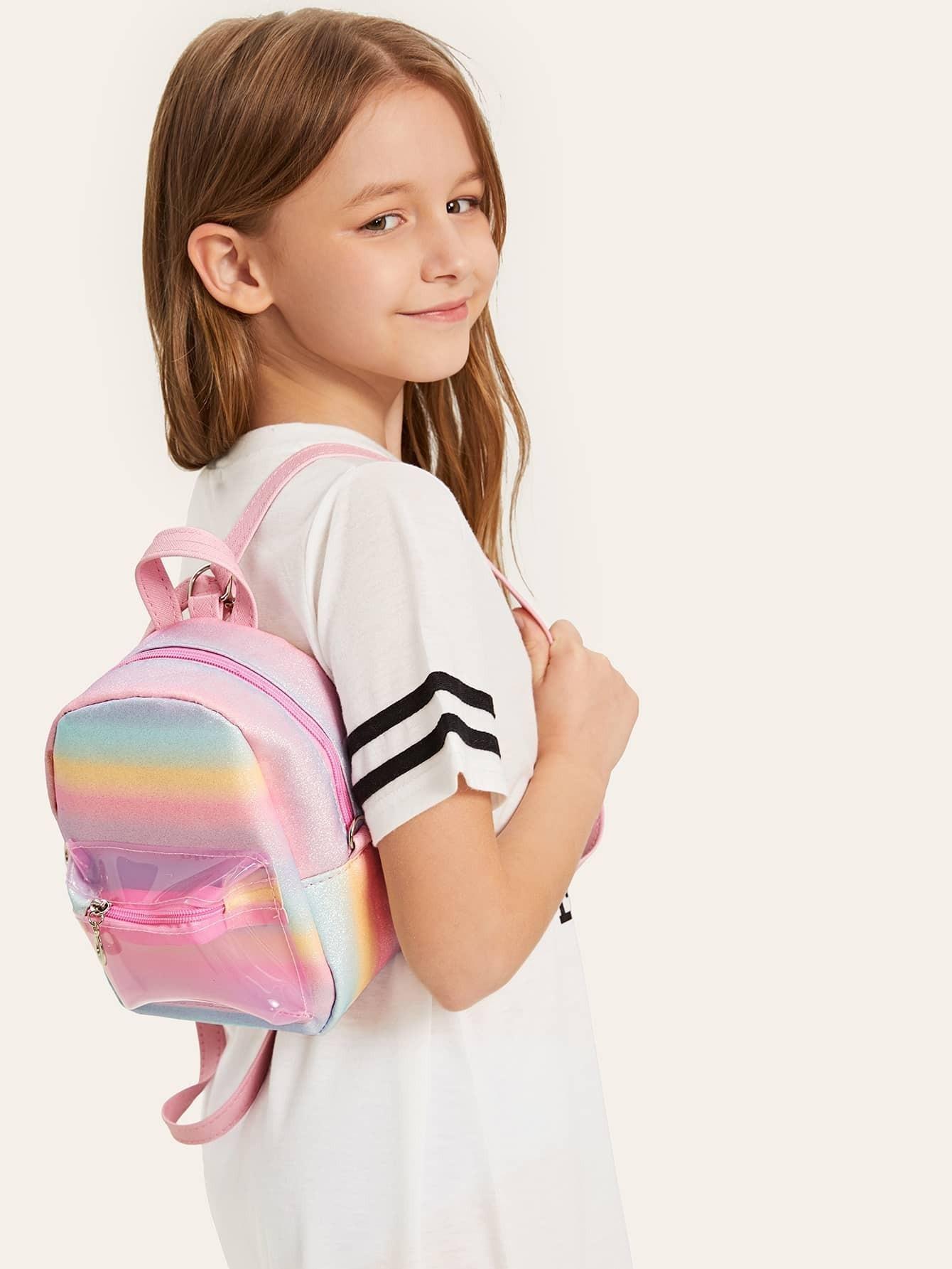Купить Для девочек радужный рюкзак, null, SheIn