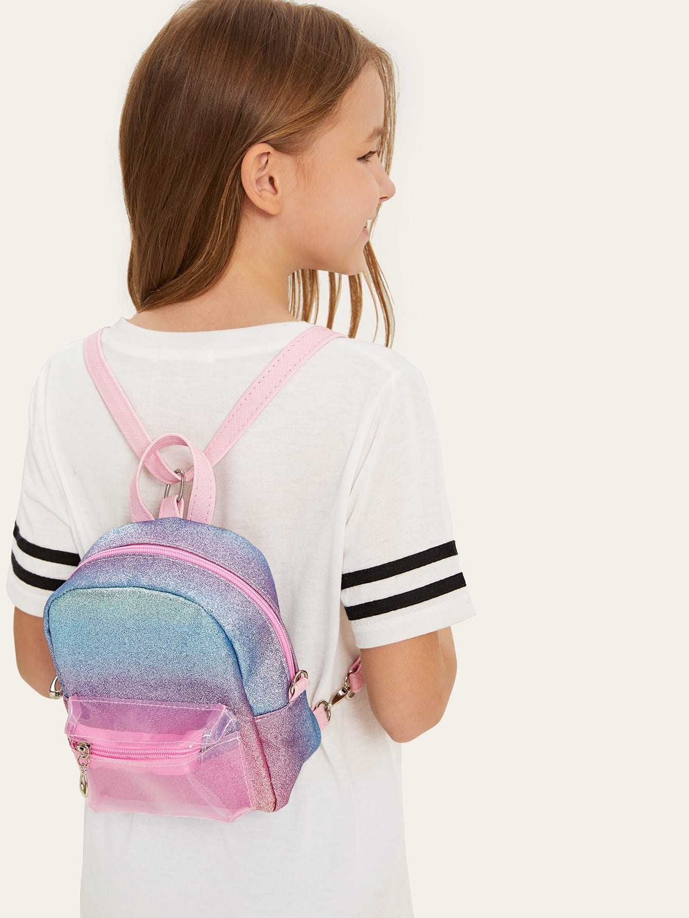 Купить Для девочек мигающий радужный рюкзак, null, SheIn