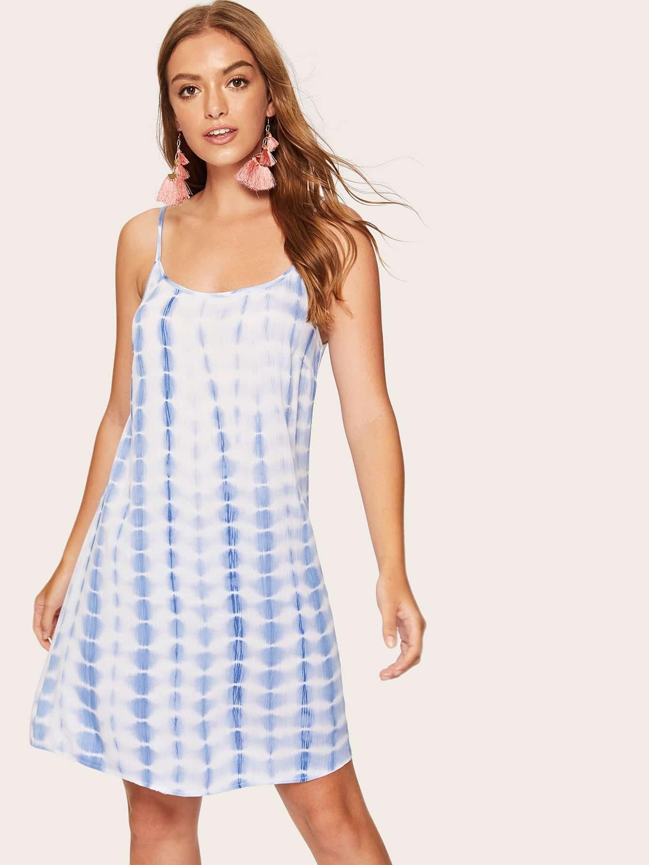Купить Платье на бретелях с низкой спинкой, Luiza, SheIn