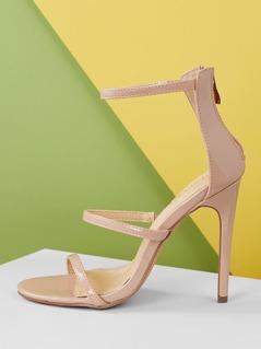 Back Zipper Strappy Stiletto High Heels
