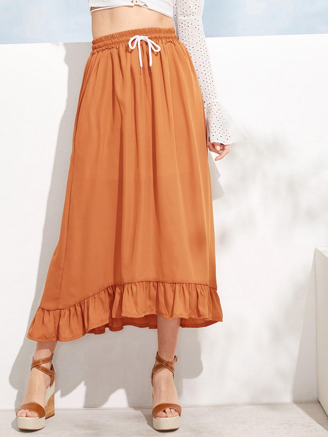 Юбка  Оранжевый цвета