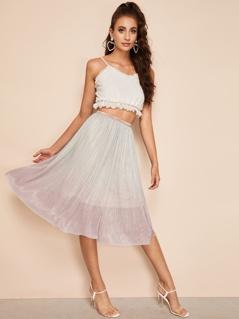 Ombre Glitter Flare Skirt