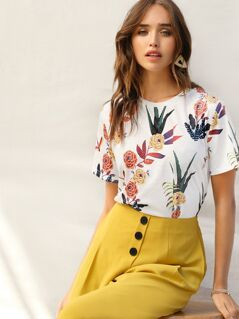 Floral and Plants Tee