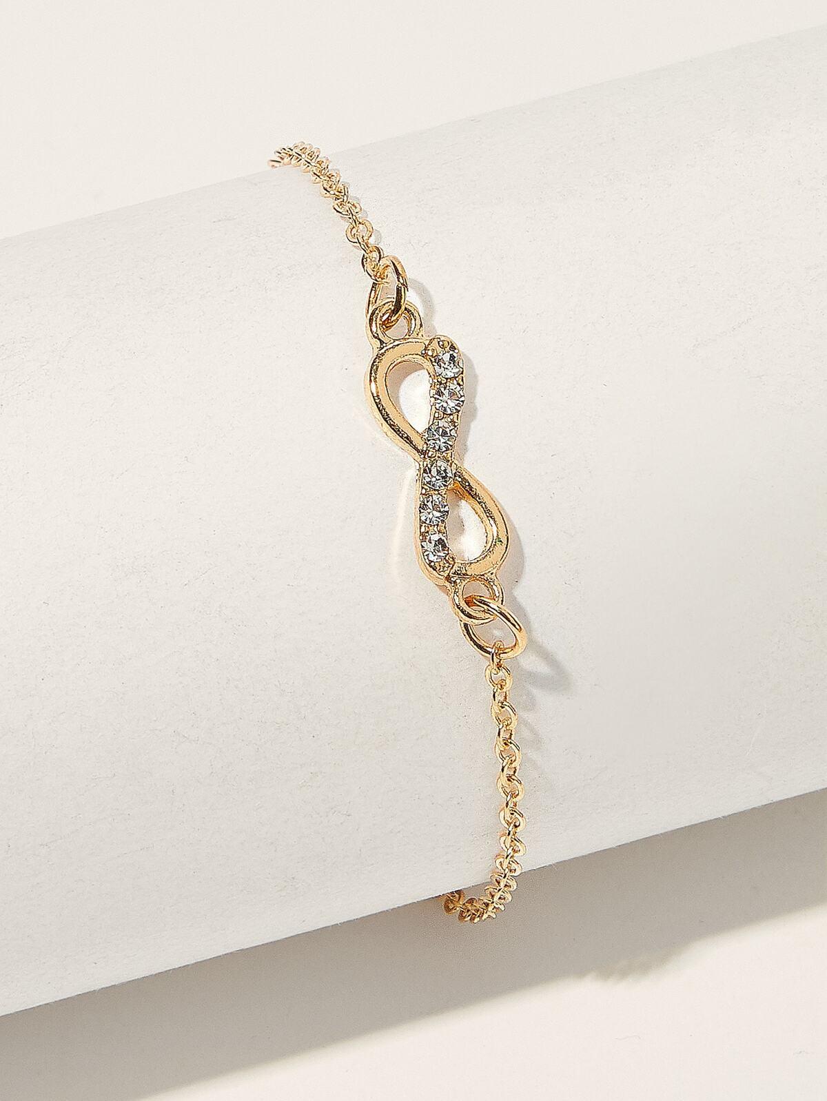 水鑽 裝飾 無限 鏈子 手鍊  1pc