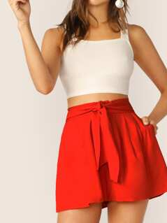 Waist Tie Relaxed Soft Shorts