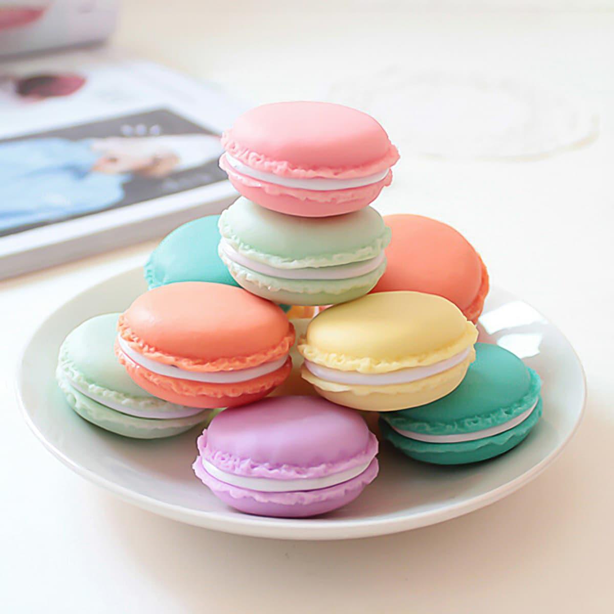 Willekeurige kleur Macaron Storage Box 1pc