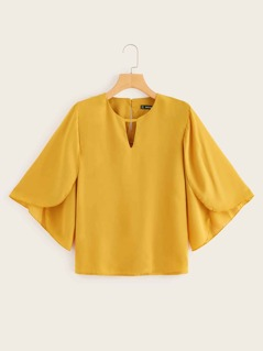 V-cut Front Petal Sleeve Top