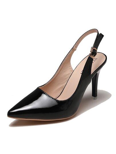 895d8a82e حذاء كعب عالي بشريط خلفي مدبب | شي إن